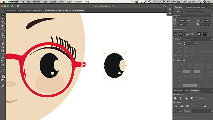 Subtraindo formas no Illustrator