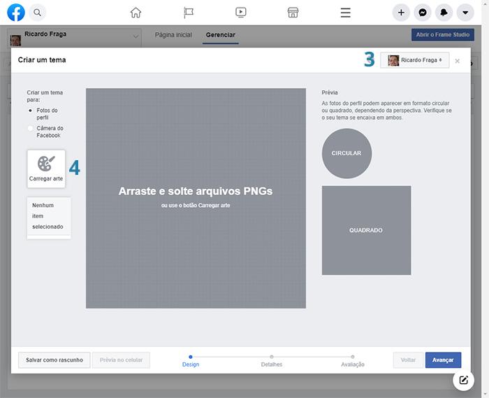 Como criar um tema no Facebook