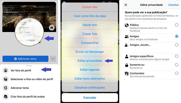 Como editar a privacidade da foto de perfil (Imagem: Reprodução/Gabrielle Lancellotti)