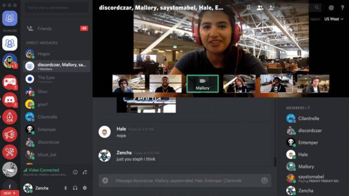 Chamada de vídeo no Discord (Imagem: Divulgação/Discord)