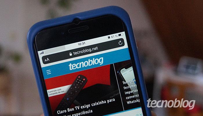 Safari no iPhone (imagem: Tatiana Vieira/Tecnoblog)