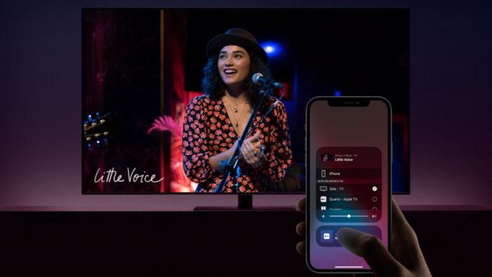 Apple AirPlay na TV (Imagem: Divulgação/Apple)