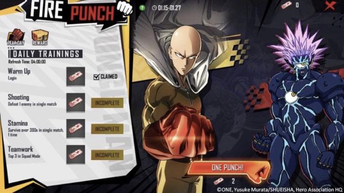 Evento de One Punch Man em Free Fire começa dia 10 (Imagem: Divulgação/Garena)