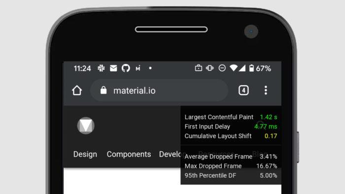 Performance HUD no celular (Imagem: Reprodução)