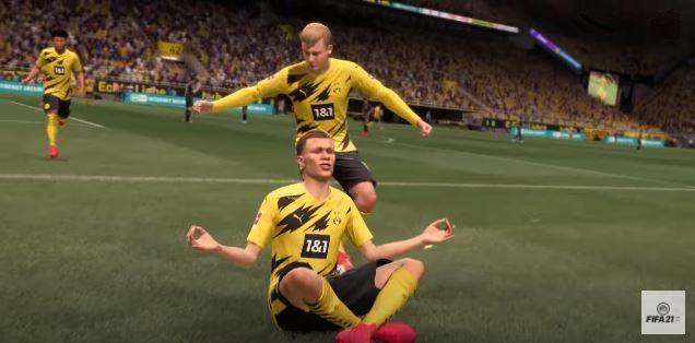 Aprenda as novas e outras comemorações do FIFA 21 (Imagem: Divulgação / EA Sports)