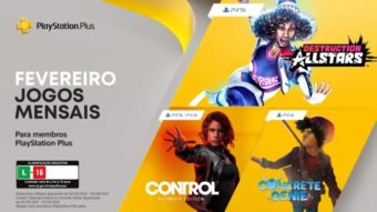 PS Plus de fevereiro tem Control, Concrete Genie e mais no PS4 e PS5