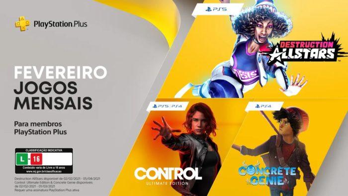 Jogos da PS Plus de fevereiro de 2021 (Imagem: Divulgação/PlayStation)