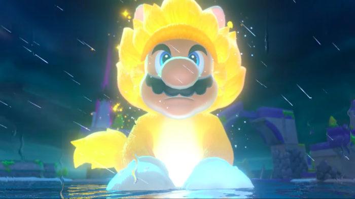 """Mario vira gigante no estilo """"Super Saiyajin"""" no novo jogo (Imagem: Divulgação/Nintendo)"""