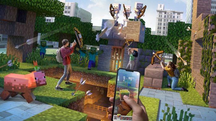 Minecraft Earth chega ao fim (Imagem: Divulgação/Microsoft)