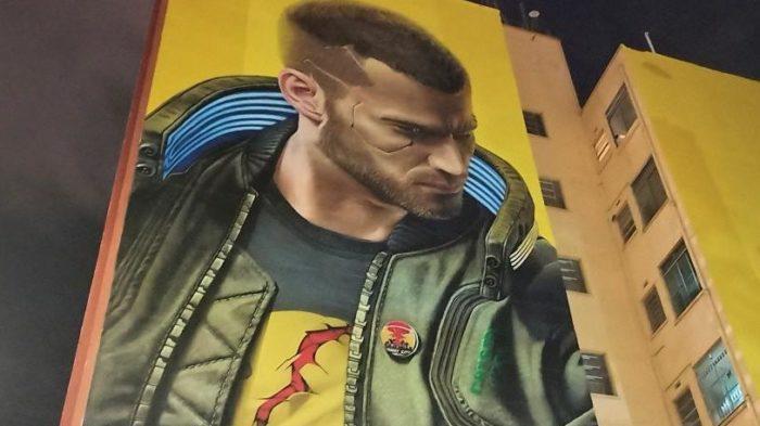 Mural de Cyberpunk 2077 em SP foi multado por irregularidade (Imagem: Reprodução/UOL)