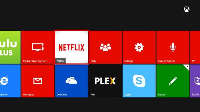 Aba de apps do Xbox 360 (Imagem: Reprodução/Microsoft) / como baixar netflix no xbox