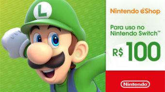 Nintendo eShop brasileira aceita gift card pré-pago para Switch