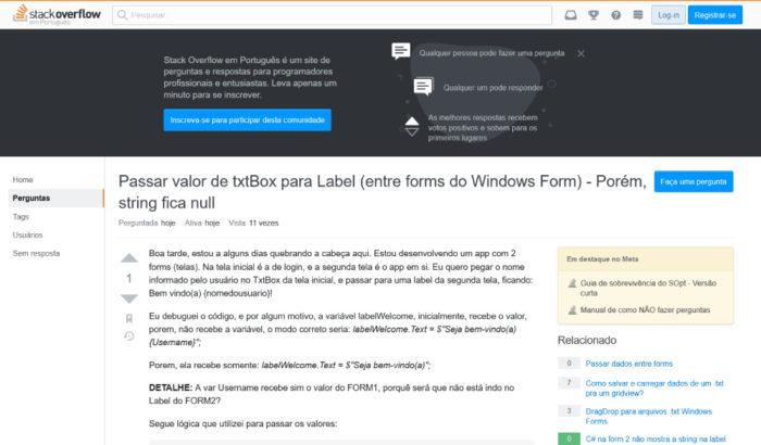 O que é Stack Overflow / Reprodução / Stack Overflow
