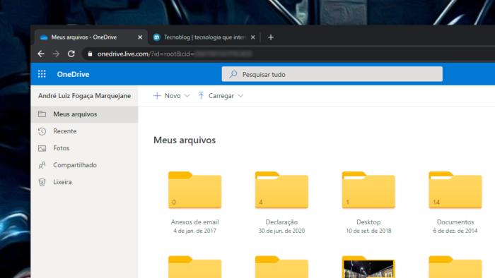 OneDrive (Imagem: reprodução)