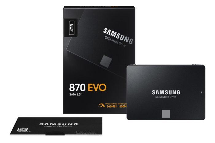 SSD 870 Evo de 4 TB (imagem: divulgação/Samsung)