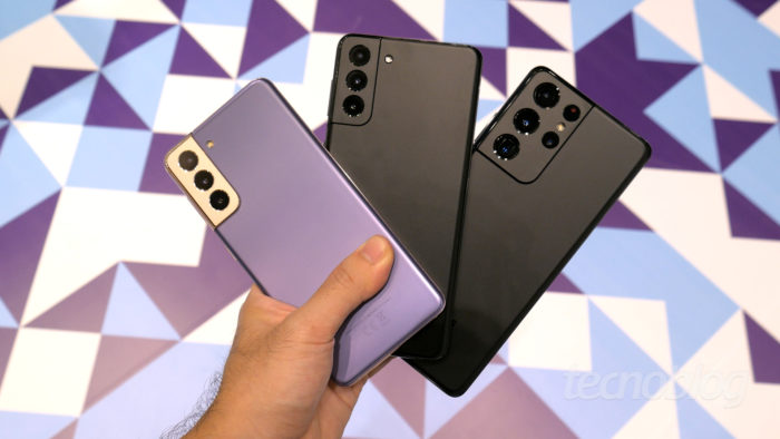 Samsung Galaxy S21 e S21 Ultra (Imagem: Paulo Higa/Tecnoblog)