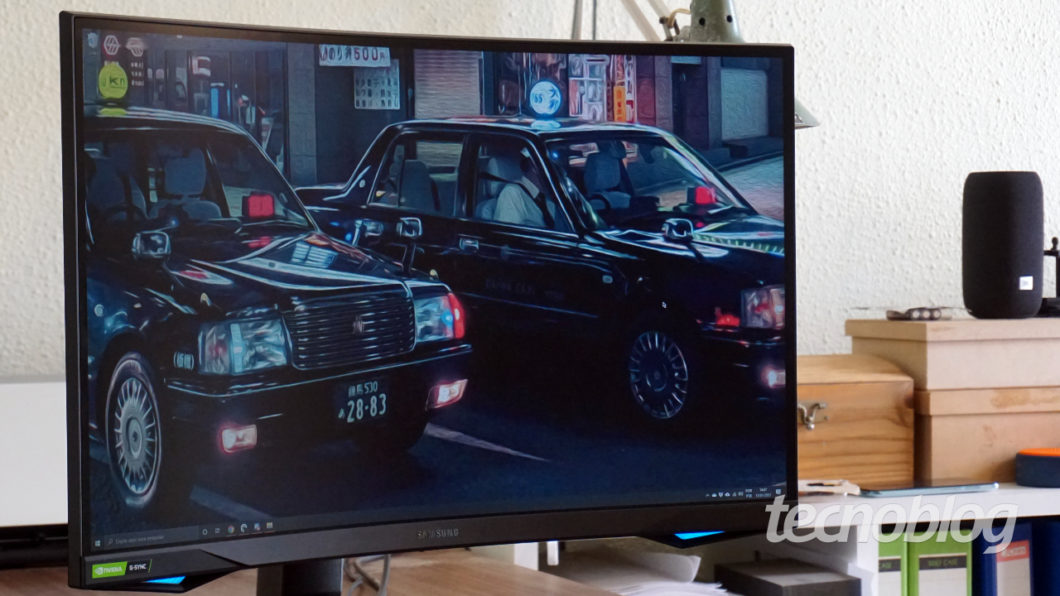 Samsung Odyssey G7 (Image: André Fogaça / Tecnoblog)