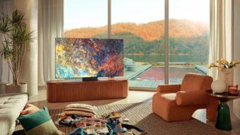 Samsung anuncia TVs Neo QLED 8K e 4K com controle remoto solar
