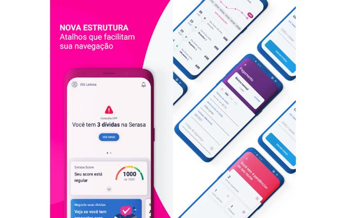 App Serasa permite monitorar score de crédito