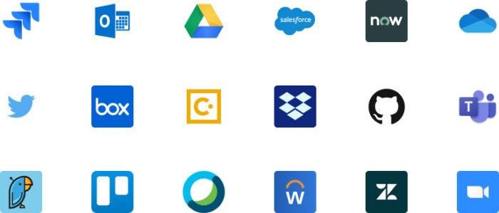 Alguns dos apps suportados pelo Slack (Imagem: Divulgação/Slack)