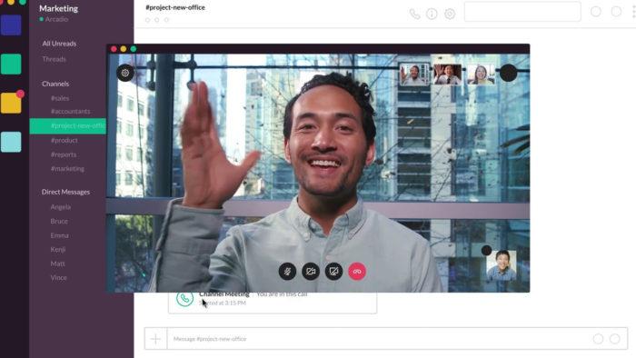 Chat de vídeo no Slack (Imagem: Divulgação/Slack)