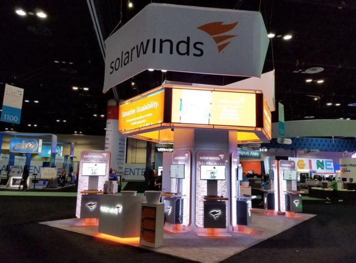 Estande da SolarWinds na Cisco Live US 2018 (imagem: Facebook/SolarWinds)