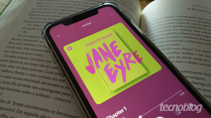 Audiobook de Jane Eyre (Charlotte Brontë) no Spotify (Imagem: Bruno Gall De Blasi/Tecnoblog)