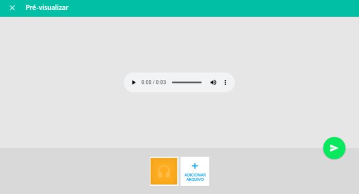 Compartilhando o áudio do Telegram no WhatsApp Web