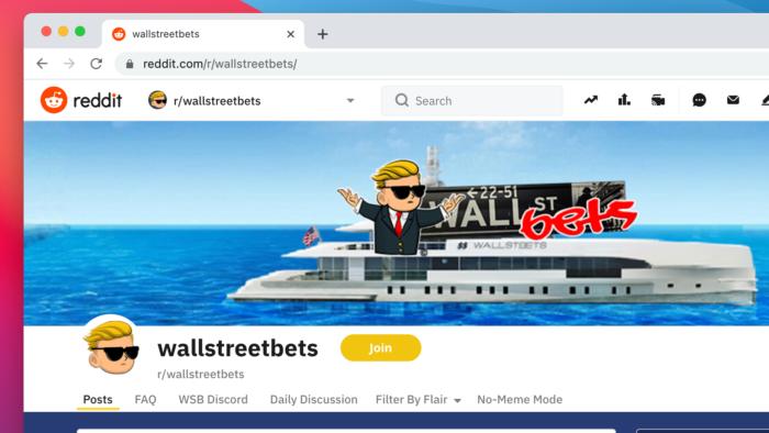 Comunidade WallStreetBets (Imagem: Reprodução/Reddit)
