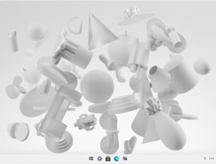 Windows 10X home screen (Image: Playback / The Verge)
