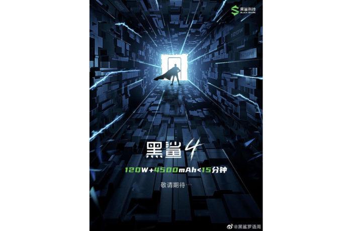 Teaser do Xiaomi Black Shark 4 (Imagem: Reprodução/Weibo)