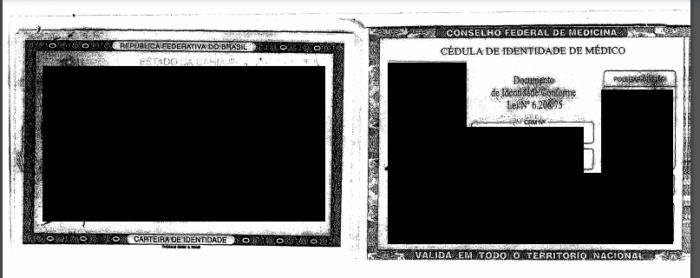 Cédula de identidade de médico vazada pelo Avaddon (Imagem: Reprodução)