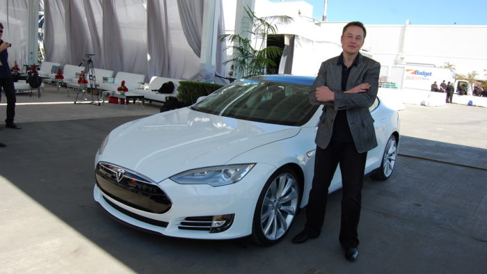 Elon Musk at the Tesla plant in Fremont, California (Image: Maurizio Pesce / Flickr)