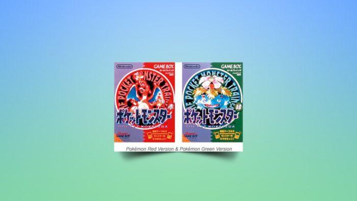Capas de Pokémon Red e Green (Imagem: Divulgação/Nintendo)