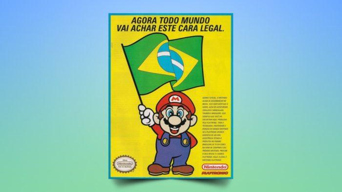 Propaganda da Playtronic e Nintendo no Brasil (Imagem: Reprodução/Playtronic)