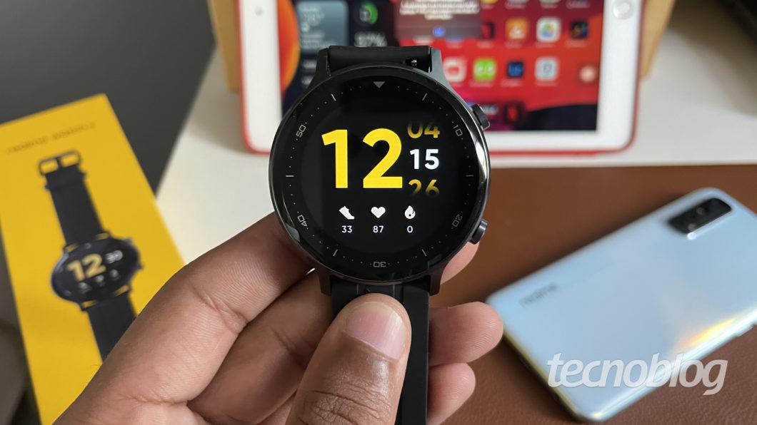 Realme Watch S (Imagem: Darlan Helder/Tecnoblog)