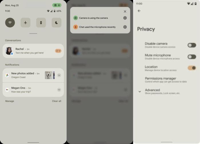 Android 12 pode trazer mudança no visual e novos recursos de privacidade (Imagem: Reprodução/XDA-Developers)