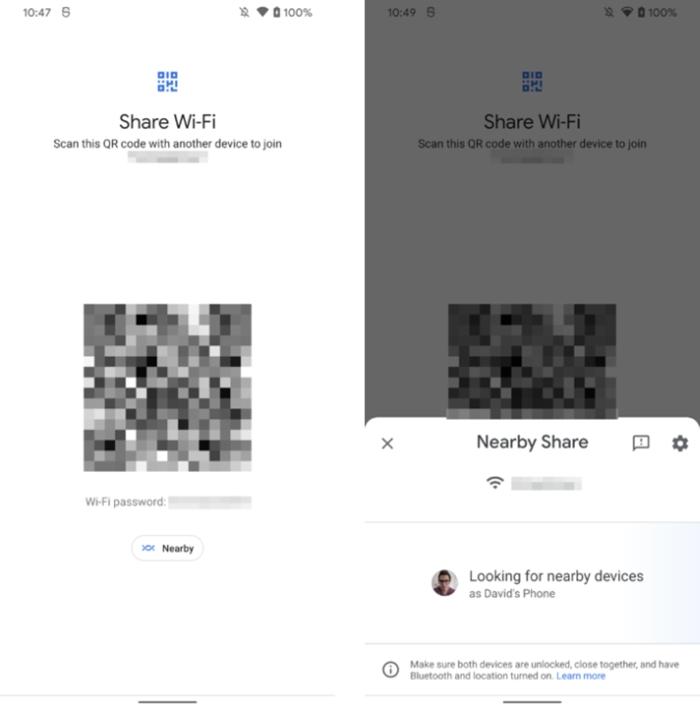 Compartilhamento de senha de Wi-Fi (imagem: reprodução/Android Police)