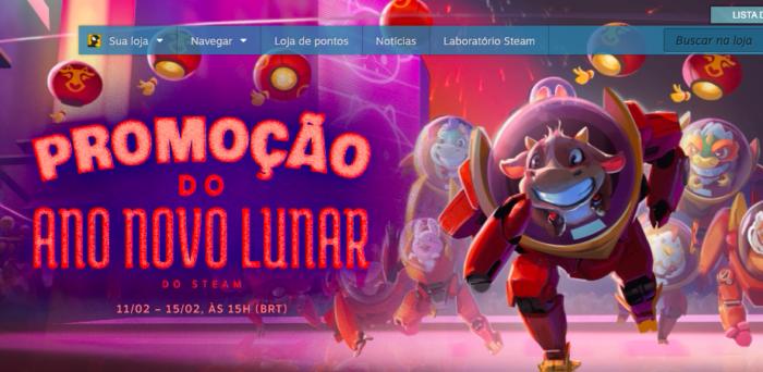 Promoção do Steam já começou (Imagem: Divulgação/Steam)