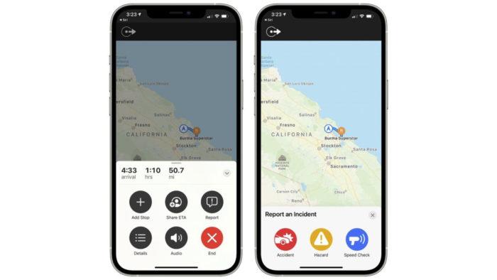 Apple Maps recebe função para reportar acidentes e radares no iOS 14.5 beta (Imagem: Reprodução/MacRumors)