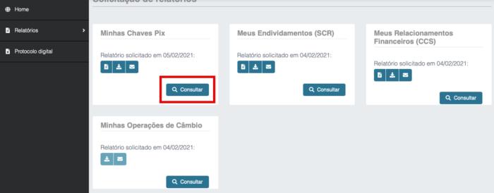 Consultar chaves Pix no Registrato (Imagem: Reprodução/Banco Central)