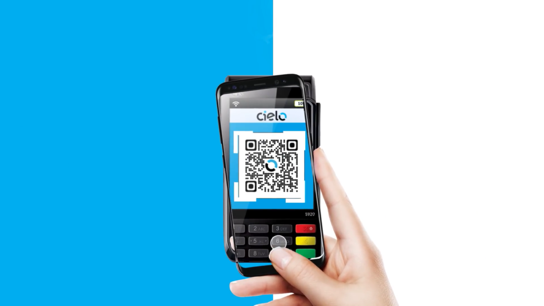 Cielo machine with QR Code (Image: Reproduction / Cielo / YouTube)