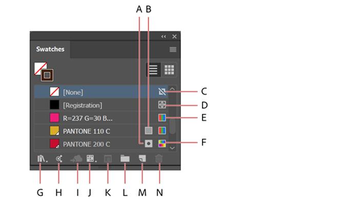 Conhecendo o painel amostras (Imagem: Reprodução/Adobe Illustrator)