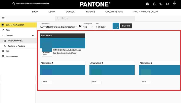 Resultados para correspondente Pantone