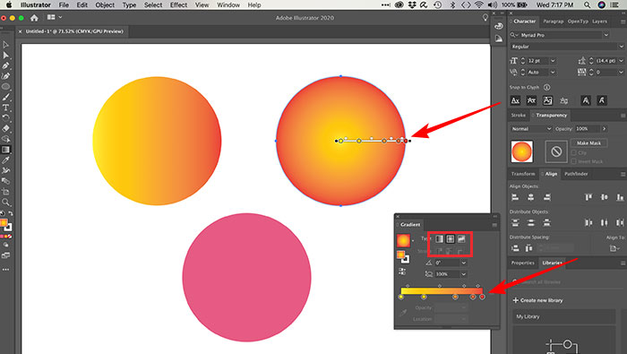 Criando degradê radial no Illustrator