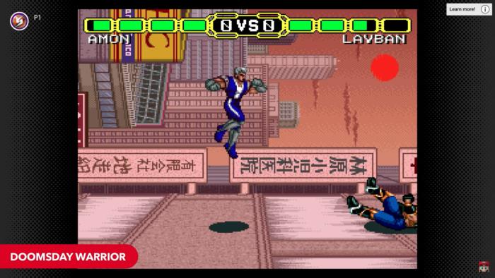 Doomsday Warrior chega em fevereiro ao Nintendo Switch Online (Imagem: Divulgação/Nintendo)