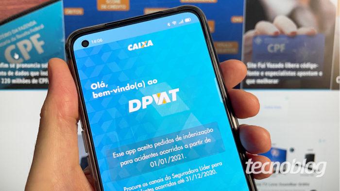 Aplicativo DPVAT Caixa (imagem: Emerson Alecrim/Tecnoblog)