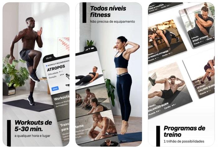 5 aplicativos para fazer exercício físico em casa / Freeletics Training Coach /Reprodução