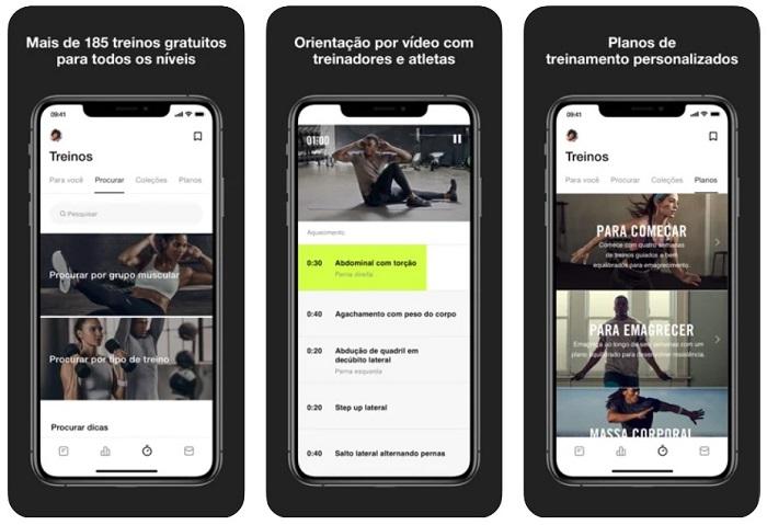 5 aplicativos para fazer exercício físico em casa / Nike Training Club /Reprodução