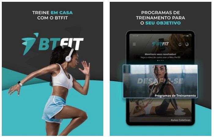 5 aplicativos para fazer exercício físico em casa / BTFIT - Academia Fitness /Reprodução